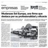 Mudanzas Sol Europa, una firma que destaca por profesionalidad y su eficacia.